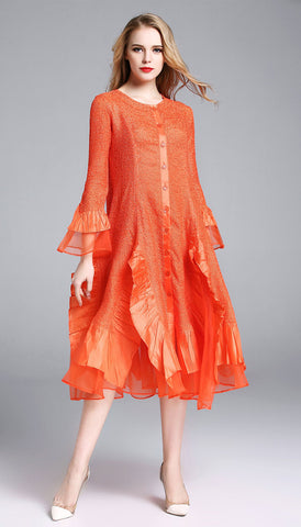 Jerry T Dress SR113-Orange