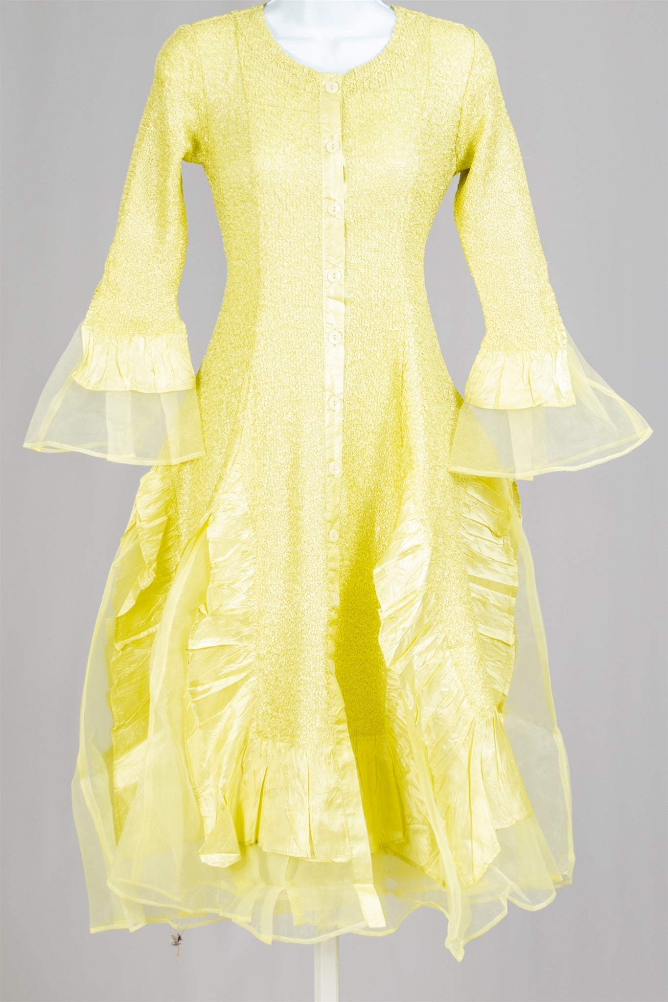 Jerry T Dress SR113-Yellow - Church Suits For Less