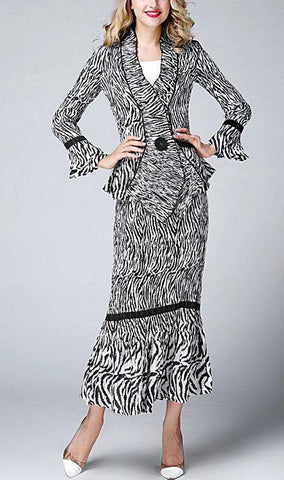 Jerry T Skirt Set SR1388-Zebra