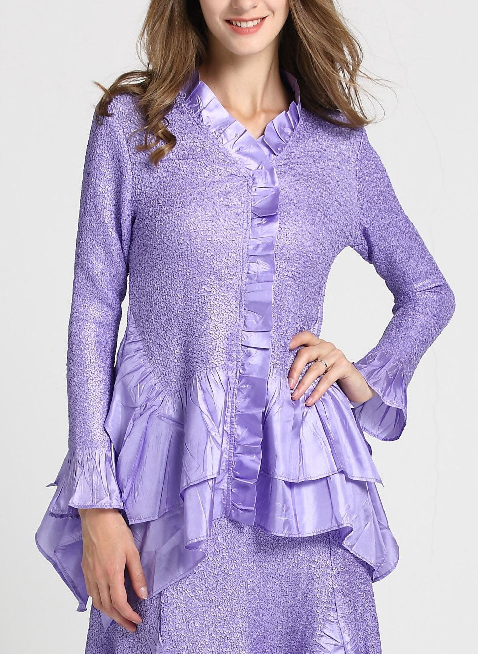 Jerry T Skirt Set SR7151-Lavender - Church Suits For Less