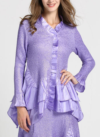 Jerry T Skirt Set SR7151-Lavender
