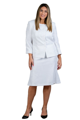 John Meyer Skirt Suit 879H296