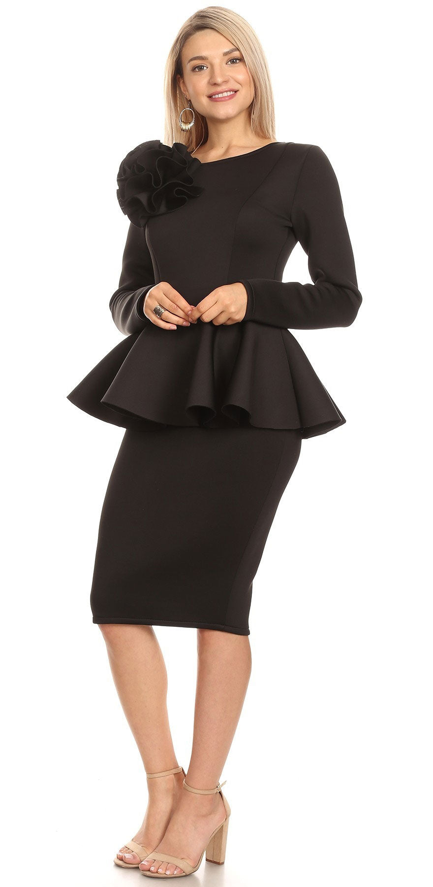 Karen T Dress 2056T-Black - Church Suits For Less