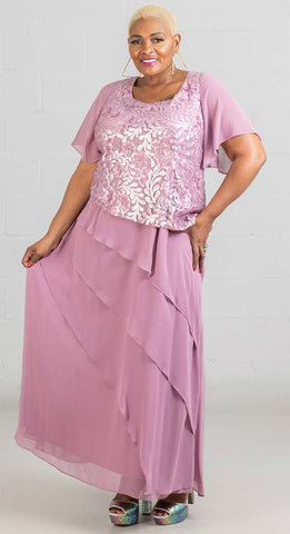 Le Bos Women Dress 27752W-Tea Rose