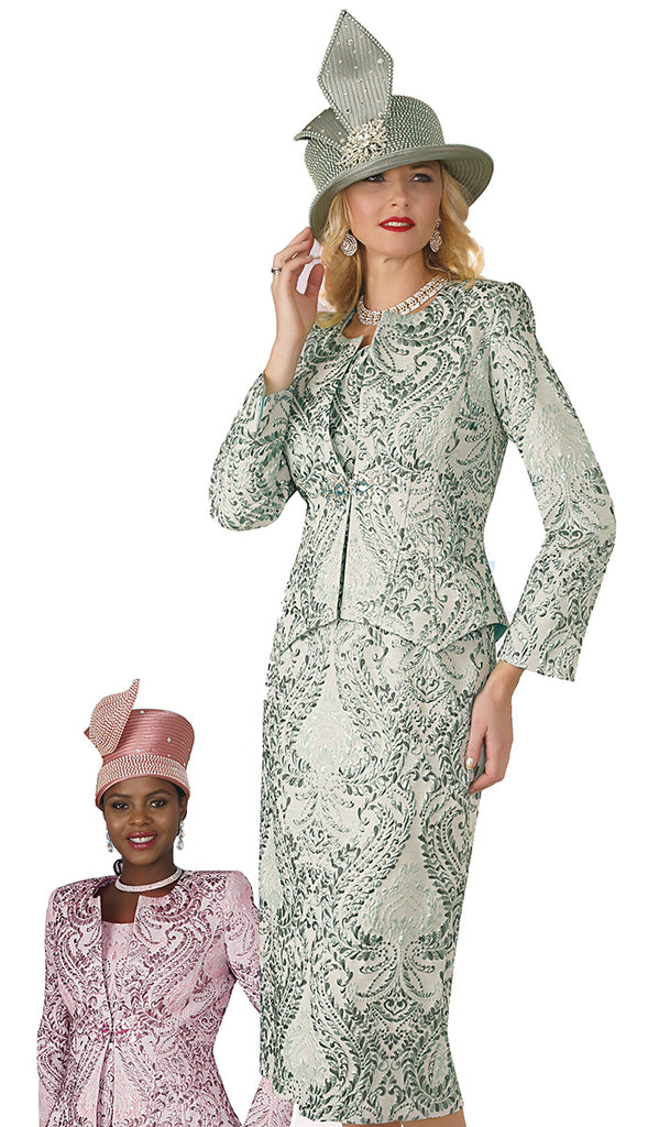 Lily and Taylor Suit 4164C-Sage - Church Suits For Less