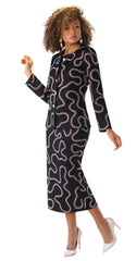 Liorah Knit By Tally Taylor 7250-Black - Church Suits For Less