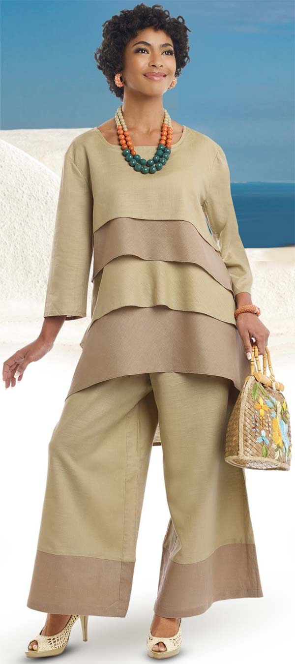 Lisa Rene 3318-Tan - Church Suits For Less