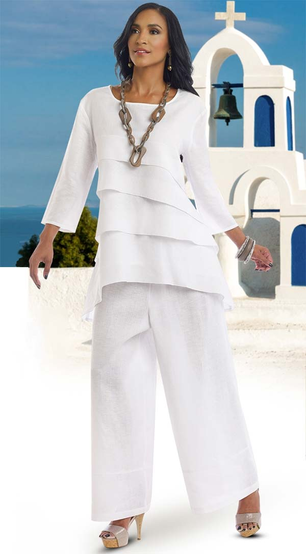 Lisa Rene 3318-White - Church Suits For Less
