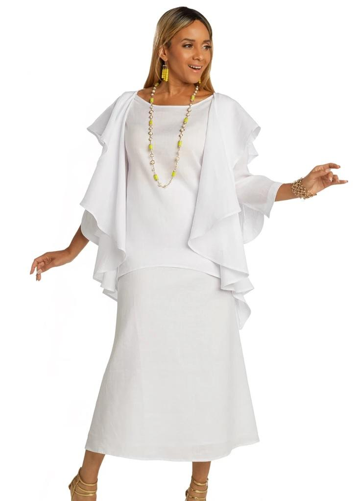 Lisa Rene By Donna Vinci 3362-White - Church Suits For Less