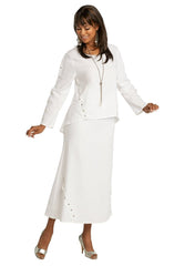 Lisa Rene By Donna Vinci 3359-White - Church Suits For Less