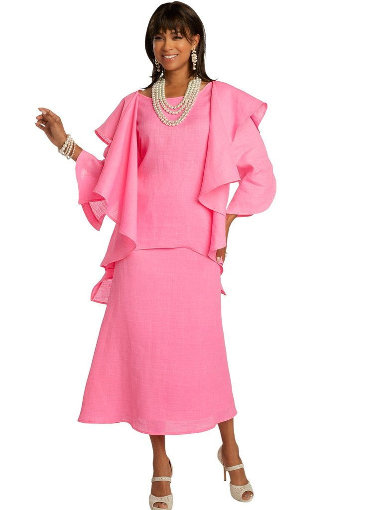 Lisa Rene By Donna Vinci 3362-Hot Pink - Church Suits For Less