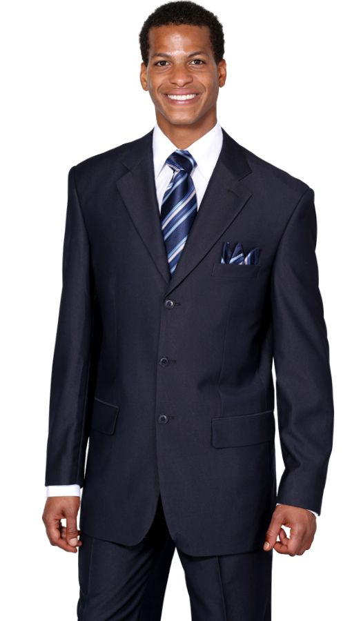 Milano Moda Suit MD5802-Navy - Church Suits For Less