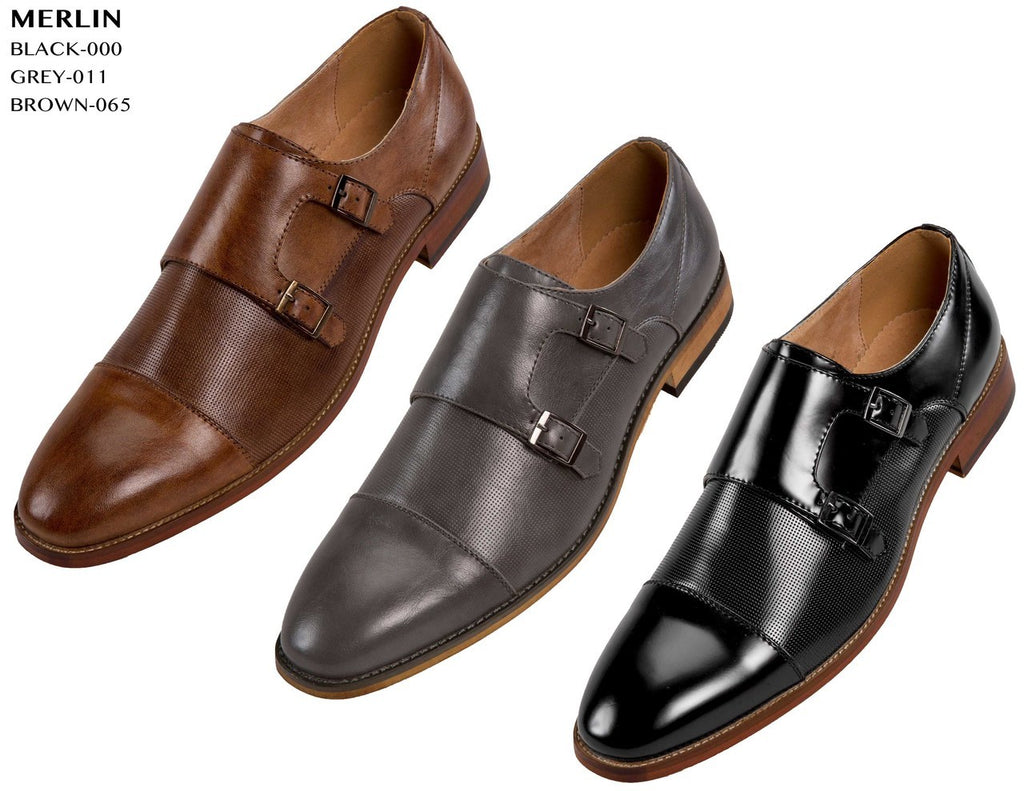 Men Shoes Merlin-Brown-IH - Church Suits For Less
