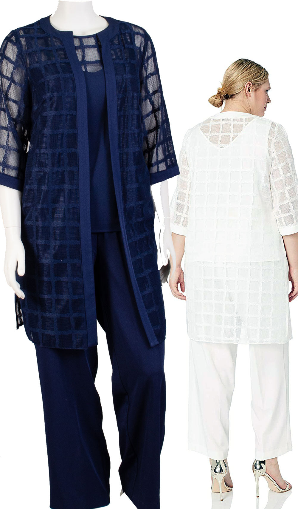 Maya Brooke 3pc Pant Set 27802-White - Church Suits For Less