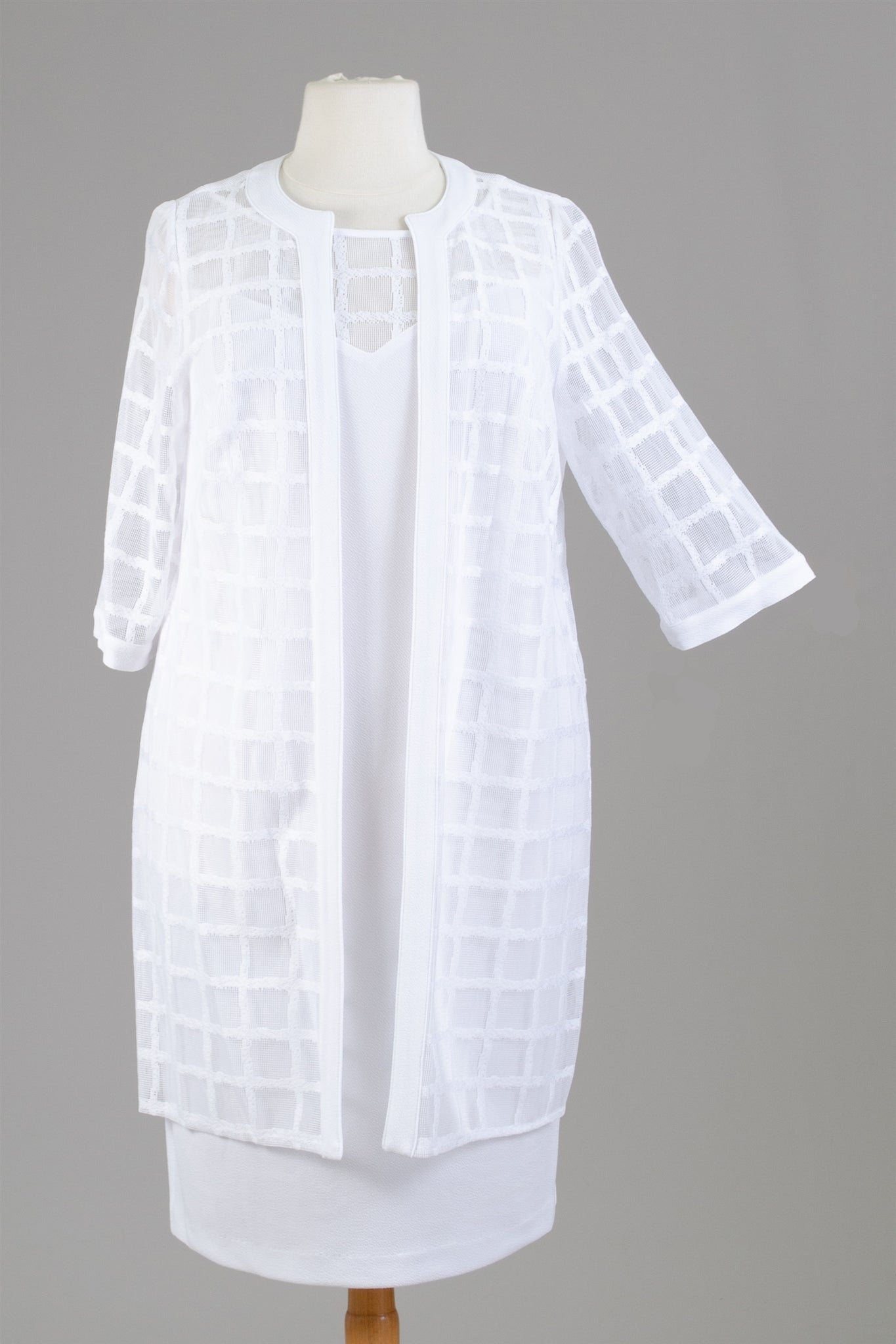 Maya Brook Jacket Dress 27367-White - Church Suits For Less