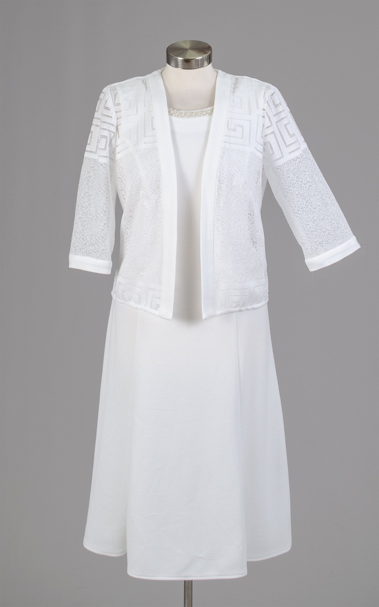 Maya Brook Jacket Dress 28156-White - Church Suits For Less