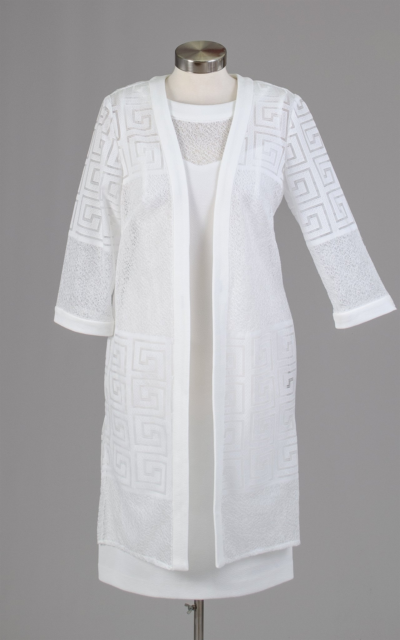 Maya Brook Jacket Dress 29140-White - Church Suits For Less