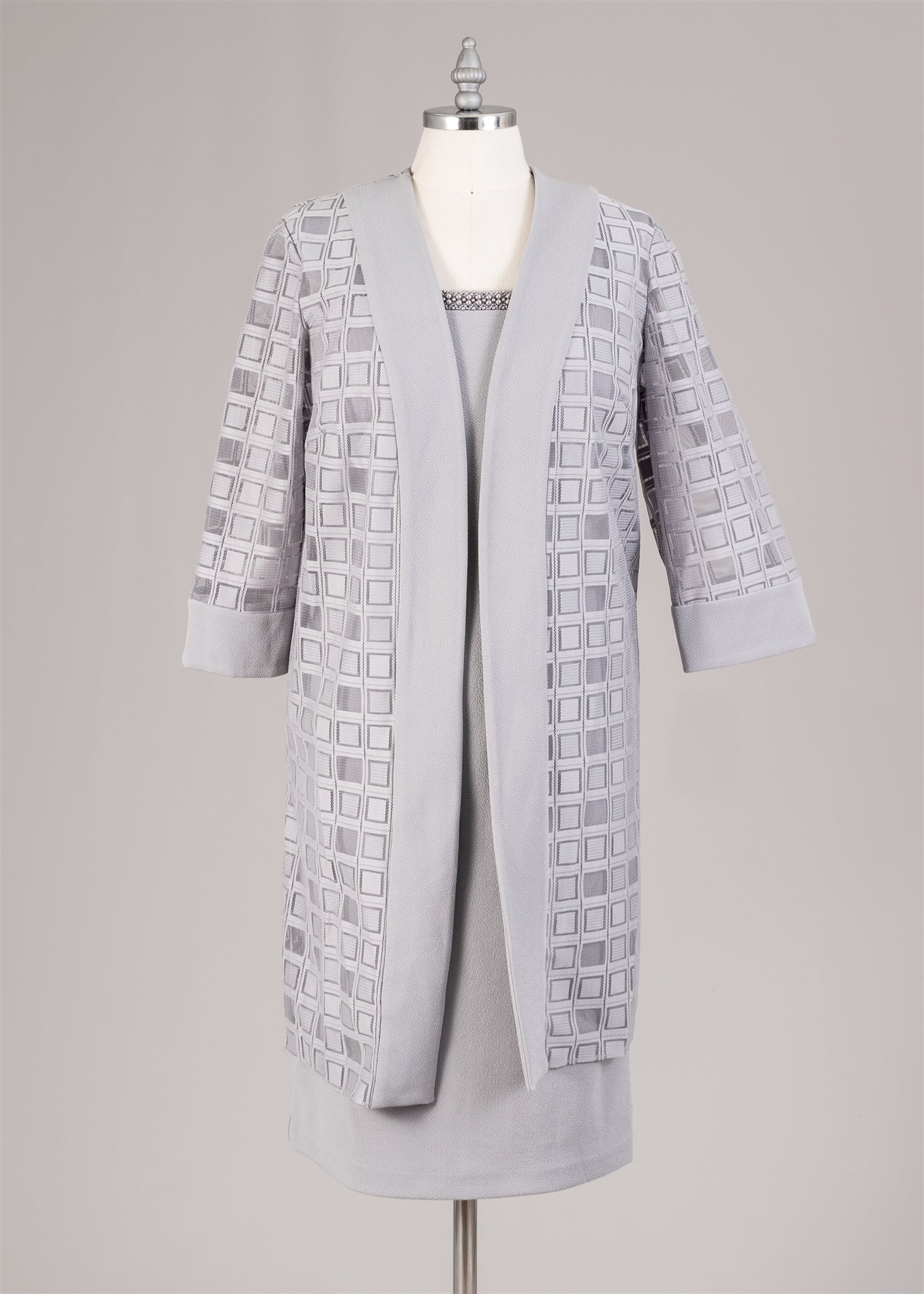 Maya Brook Jacket Dress 29163-Pewter - Church Suits For Less