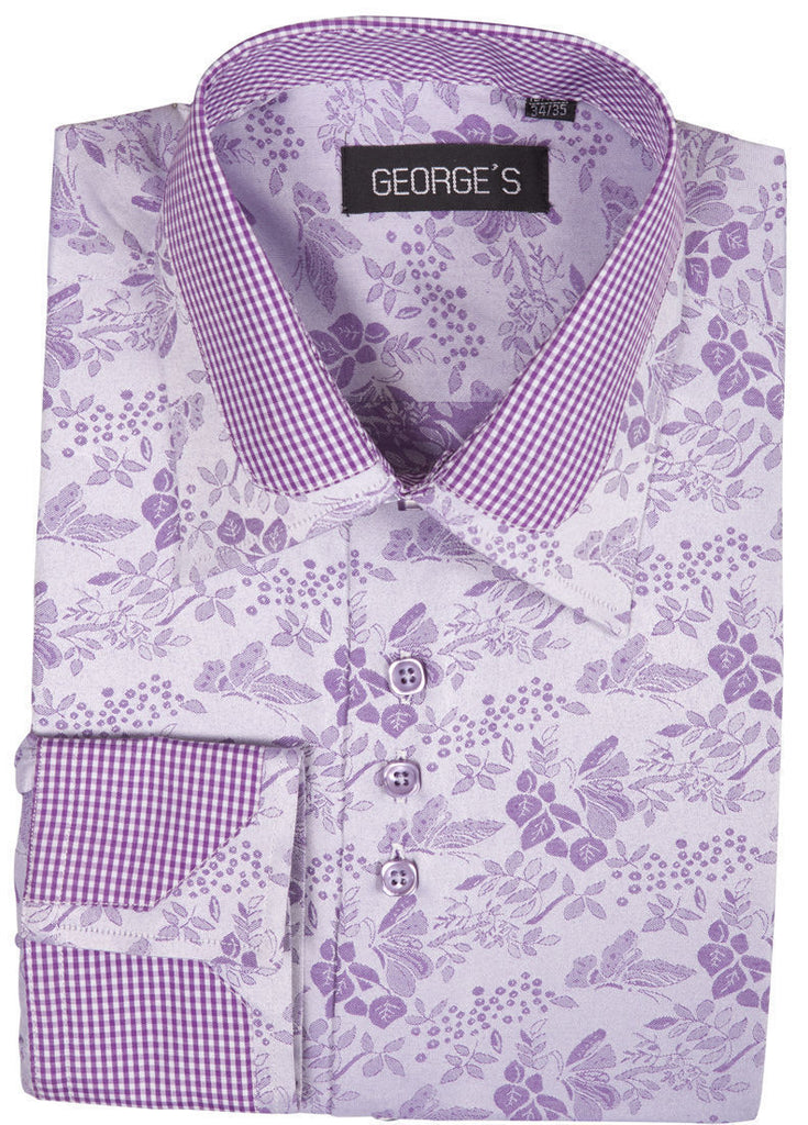 Men Shirt AH622-Lavender - Church Suits For Less