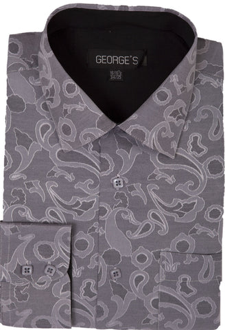 Men Shirt AH625-Grey - Church Suits For Less
