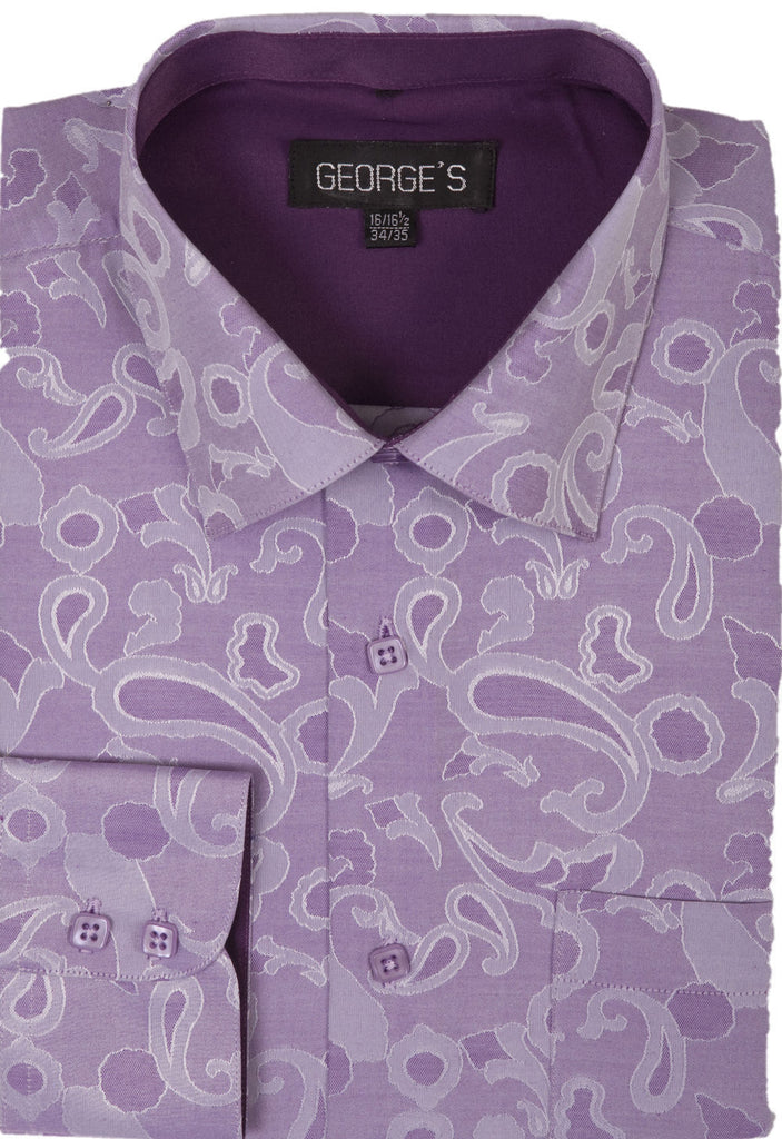 Men Shirt AH625-Purple - Church Suits For Less