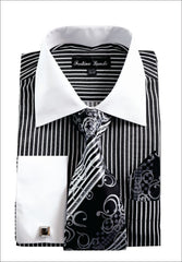 Men Shirt FL631-Black - Church Suits For Less