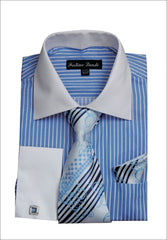 Men Shirt FL631-Blue - Church Suits For Less