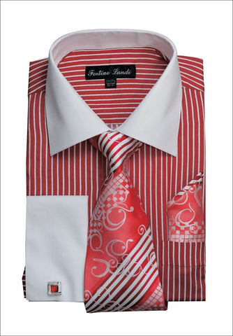 Men Shirt FL631-Red - Church Suits For Less