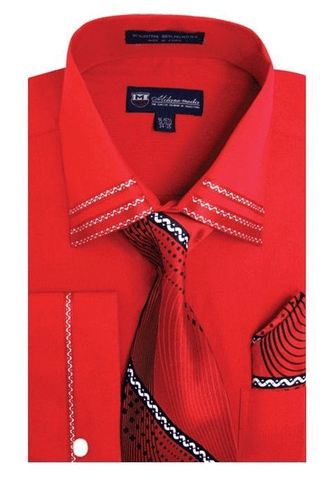 Milano Moda Shirt SG-28-Red
