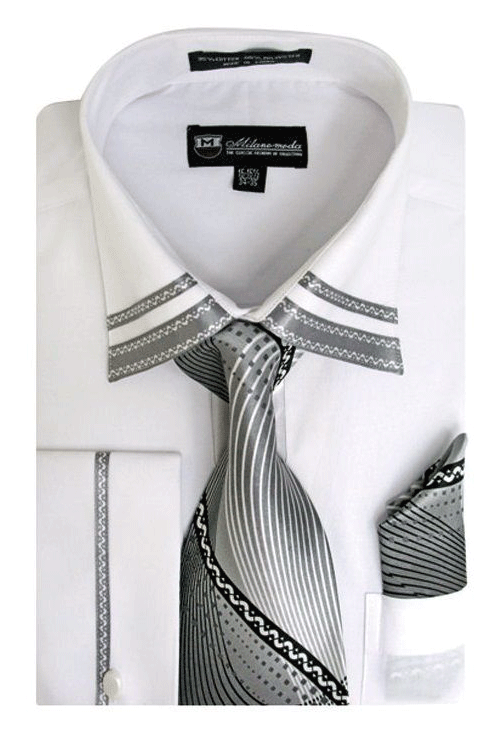 Milano Moda Shirt SG-28-White - Church Suits For Less