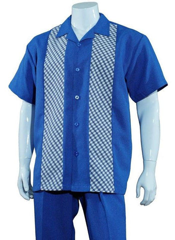 Fortino Landi Walking Set 2968-Blue - Church Suits For Less