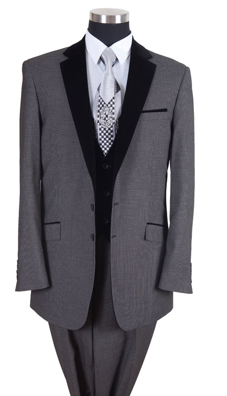 Milano Moda Men Suit 57024-Grey - Church Suits For Less