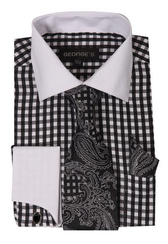 Milano Moda Men Shirt AH615-Black