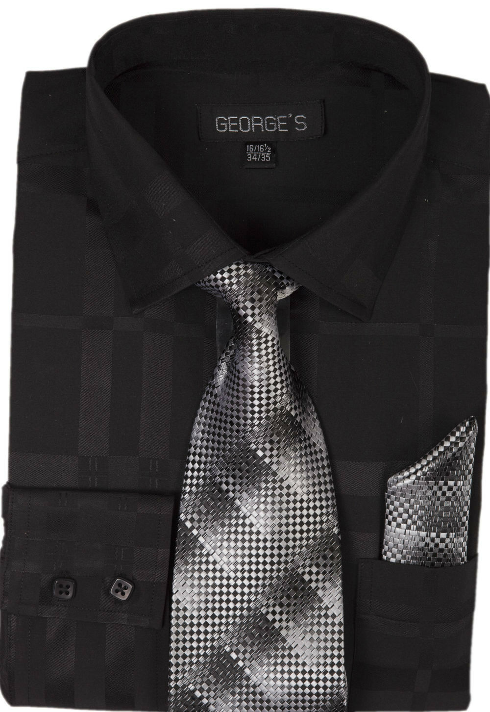 Milano Moda Men Shirt AH623-Black - Church Suits For Less