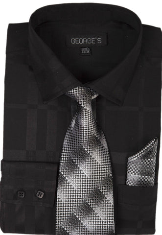 Milano Moda Men Shirt AH623-Black