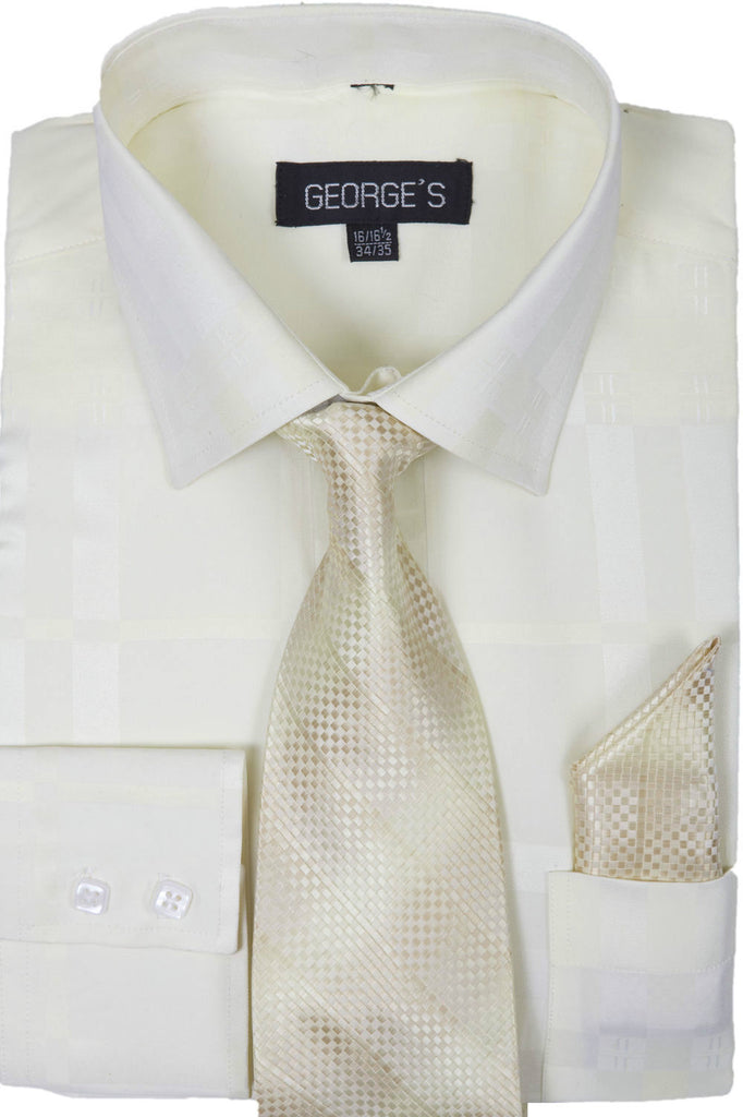 Milano Moda Men Shirt AH623-Cream - Church Suits For Less