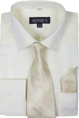Milano Moda Men Shirt AH623-Cream