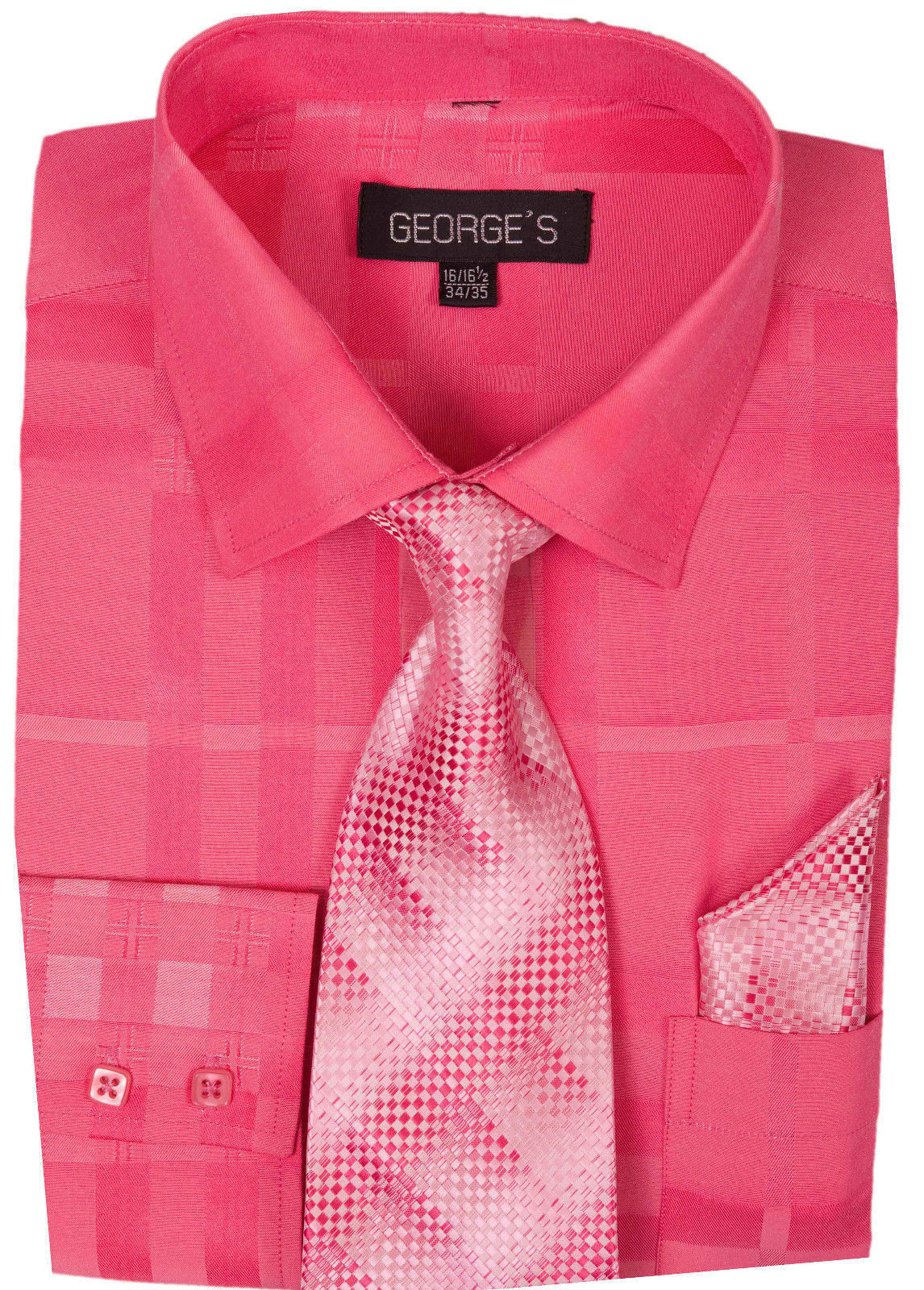 Milano Moda Men Shirt AH623-Fuchsia - Church Suits For Less