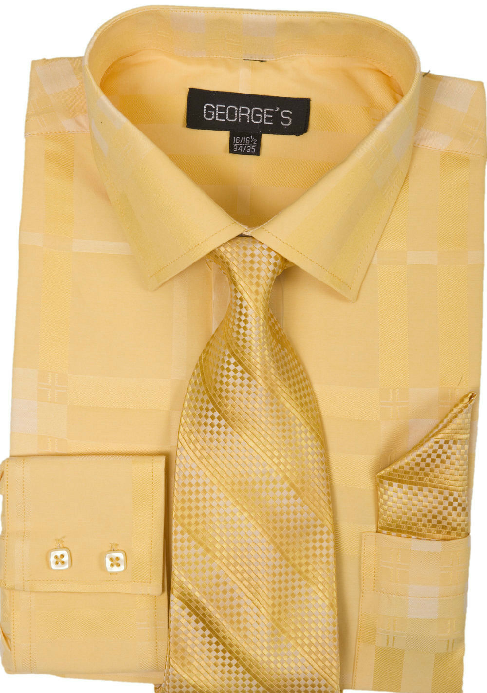 Milano Moda Men Shirt AH623-Gold - Church Suits For Less
