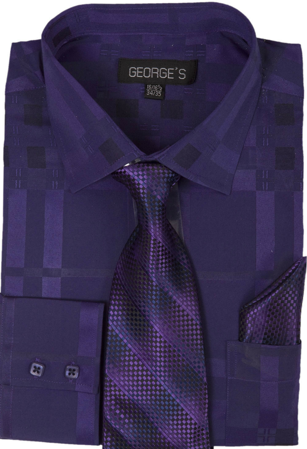 Milano Moda Men Shirt AH623-Purple - Church Suits For Less