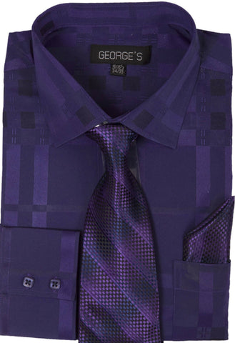 Milano Moda Men Shirt AH623-Purple