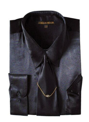 Milano Moda Shirt SG08-Black - Church Suits For Less