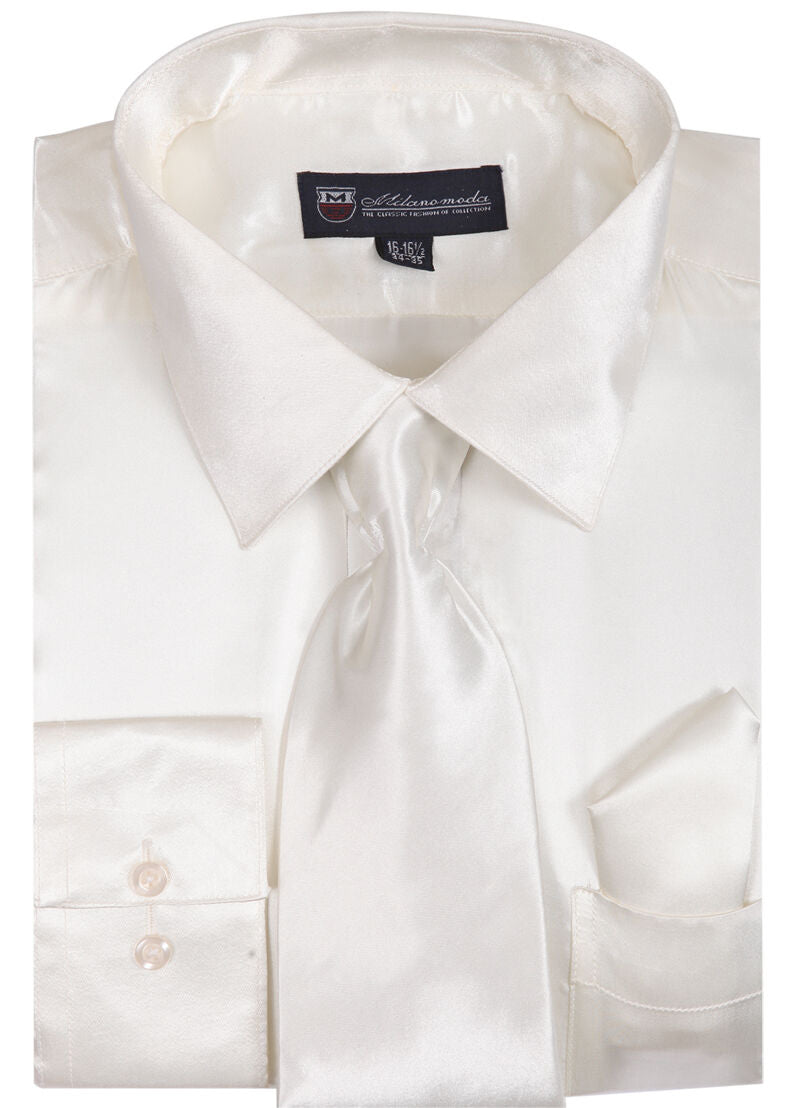 Milano Moda Shirt SG08-Cream - Church Suits For Less