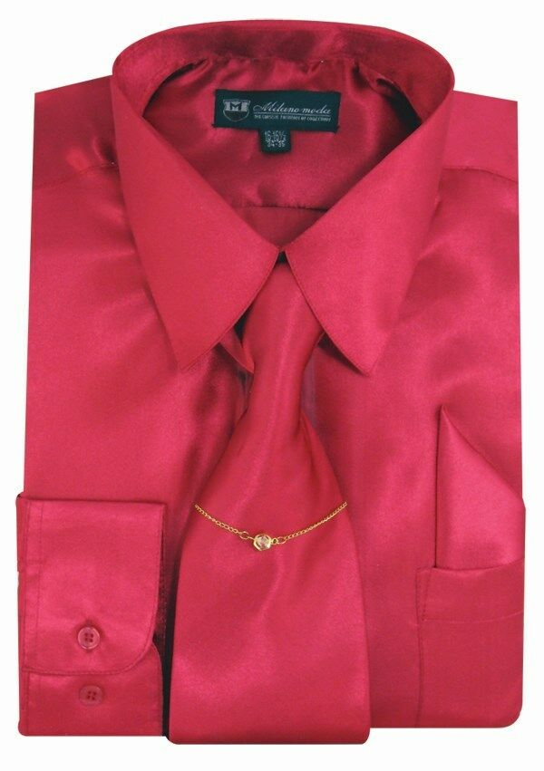 Milano Moda Shirt SG08-Fuchsia - Church Suits For Less