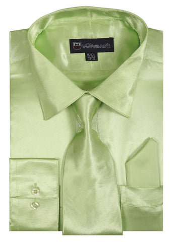 Milano Moda Shirt SG08-Lime - Church Suits For Less