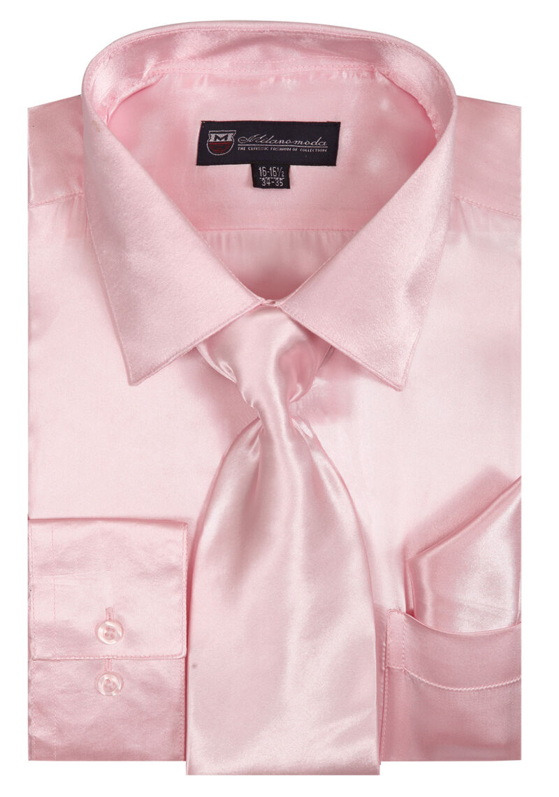 Milano Moda Shirt SG08-Pink - Church Suits For Less