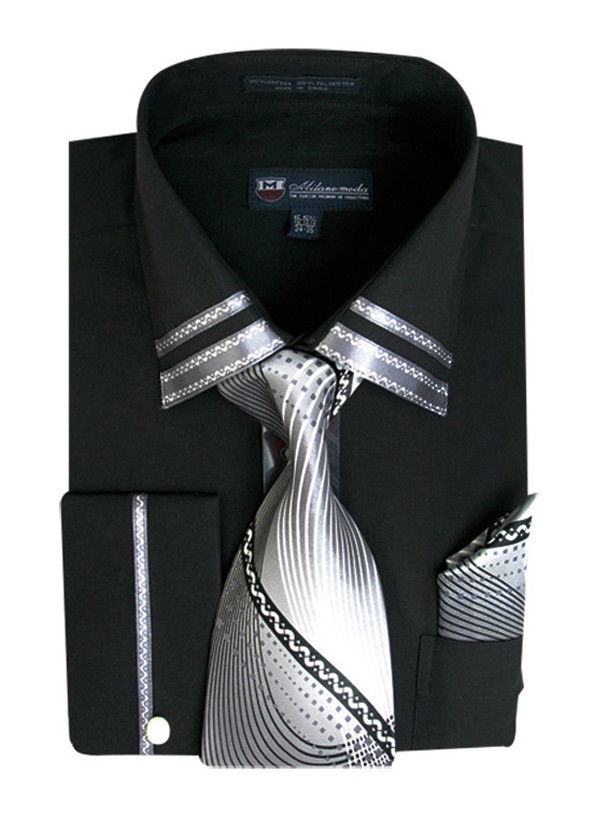 Milano Moda Shirt SG-28-Black - Church Suits For Less