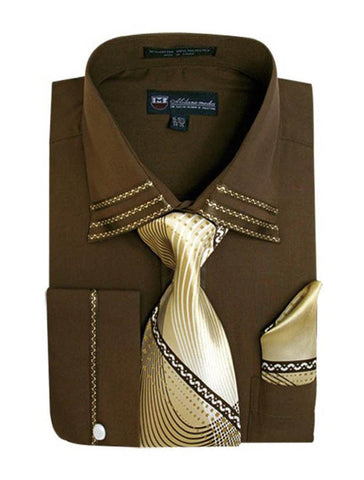 Milano Moda Shirt SG-28-Brown