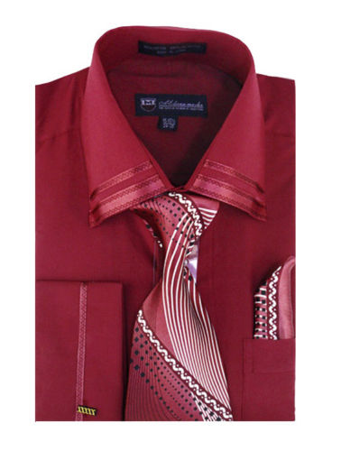 Milano Moda Shirt SG-28-Burgundy - Church Suits For Less