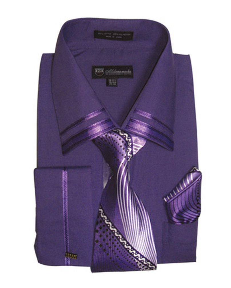 Milano Moda Shirt SG-28-Purple - Church Suits For Less
